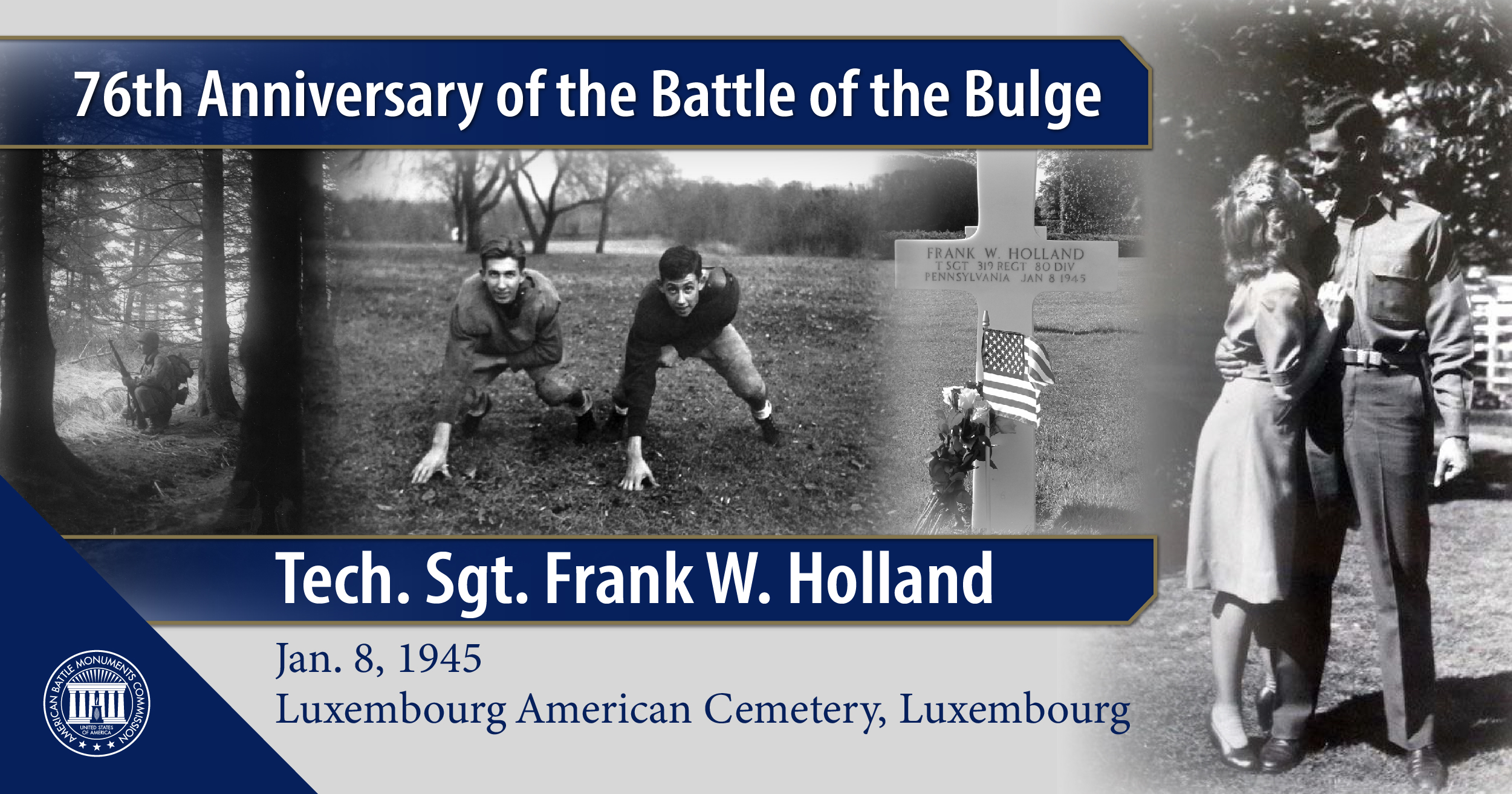 Tech. Sgt. Frank W. Holland, buried in Luxembourg American Cemetery