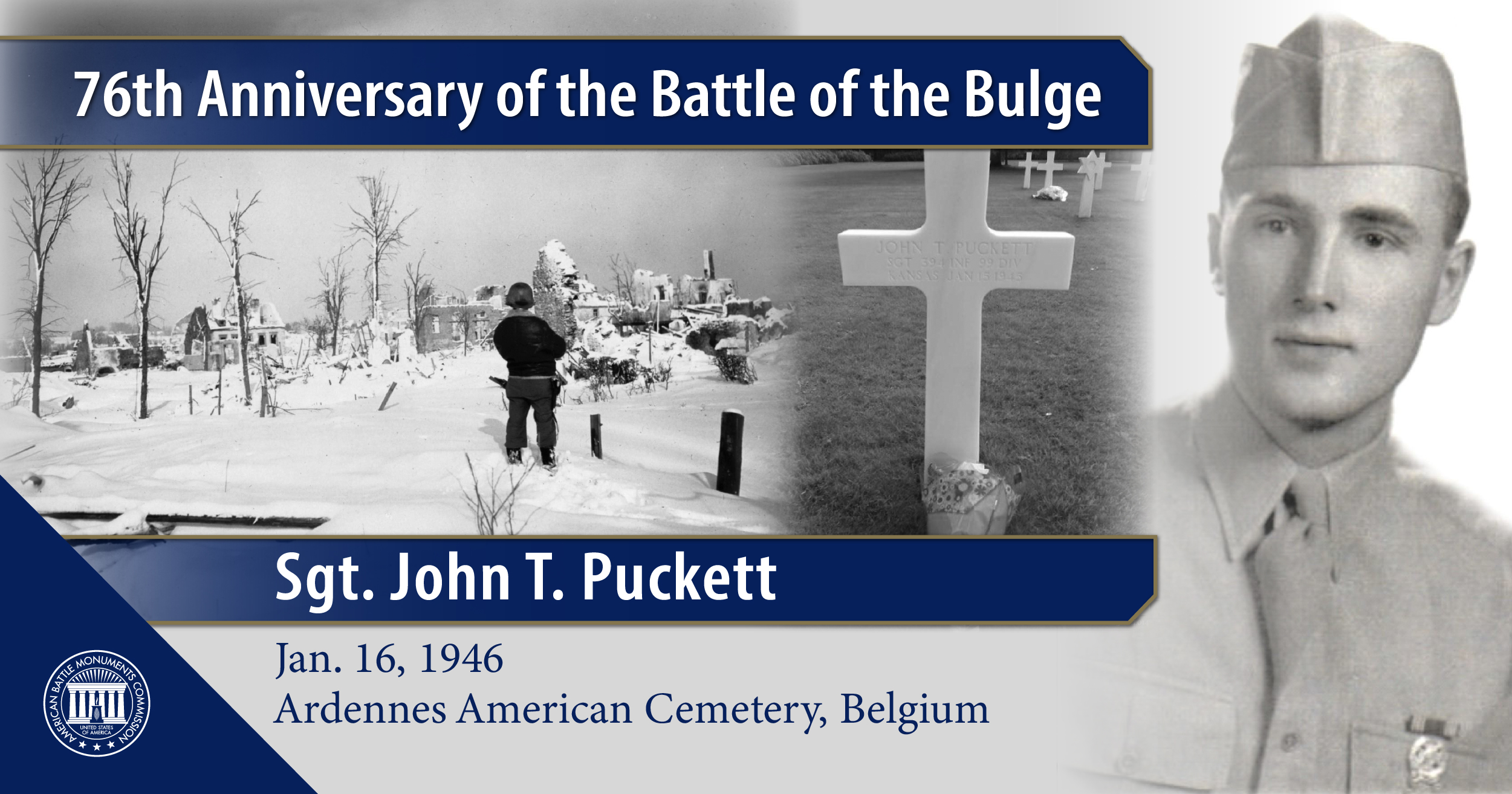 Sgt. John T. Puckett, buried in Ardennes American Cemetery