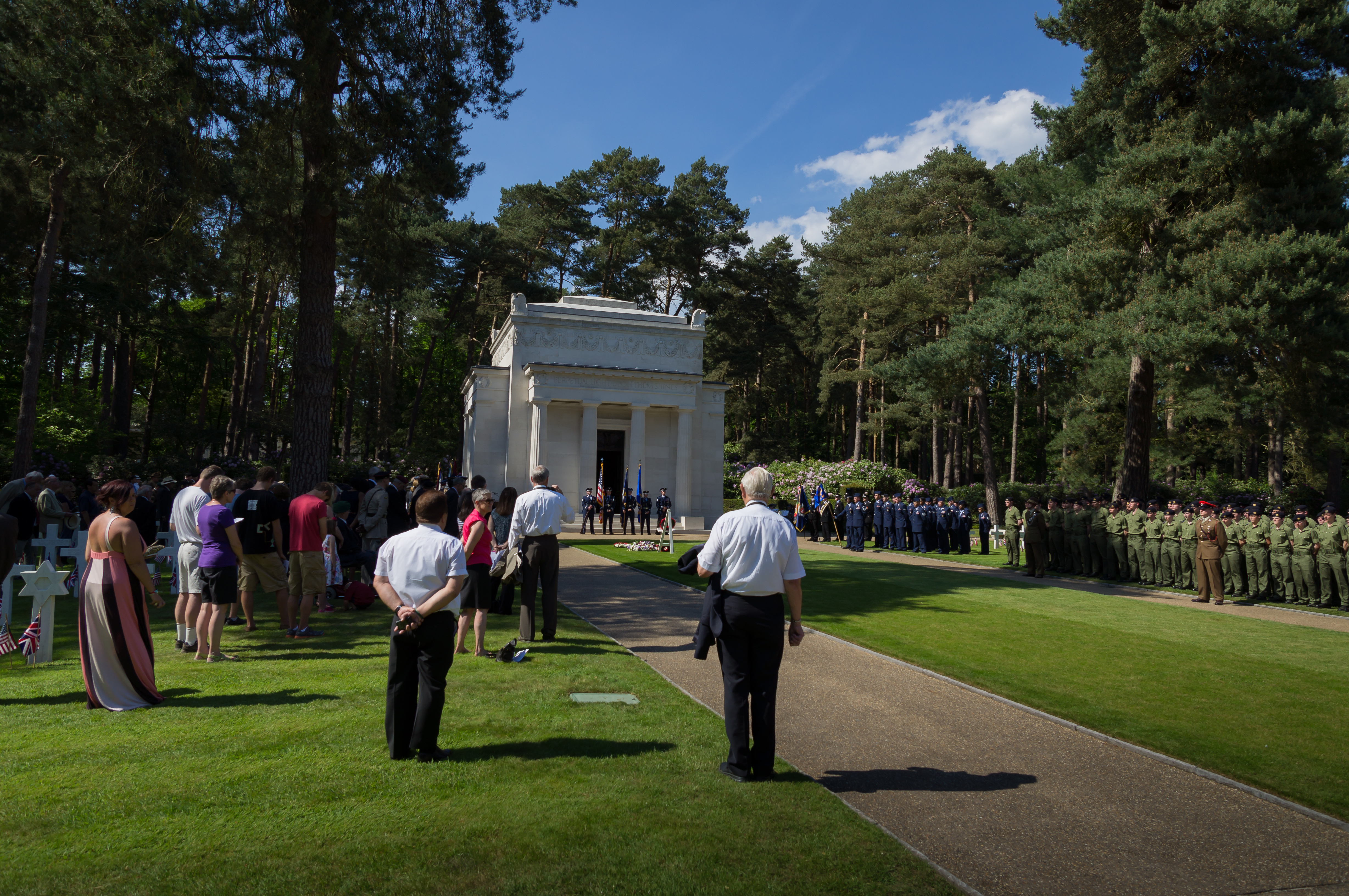 Memorial Day 2012 activities at Brookwood American Cemetery in England.