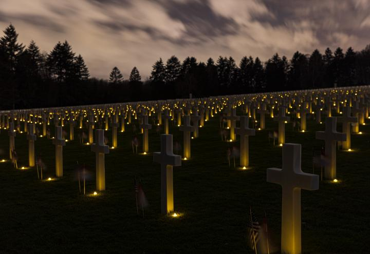 Luminary at the Luxembourg American Cemetery
