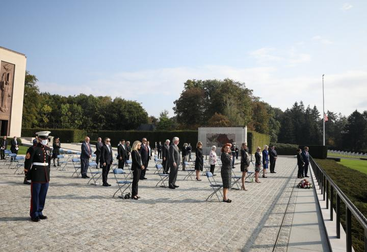 Today, several U.S. Ambassadors from across Europe visited Luxembourg American Cemetery and Memorial as part of the a Chiefs of Mission September Summit, held Sept. 22-24. This gathering is slated to be the largest gathering of U.S. Ambassadors for this purpose in history.