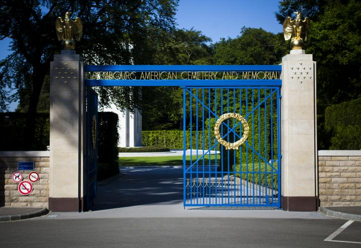 Luxembourg American Cemetery front gate