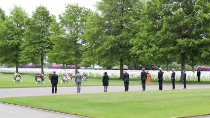 Memorial Day 2020: Netherlands American Cemetery official party