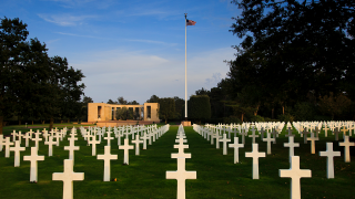 Normandy American Cemetery video