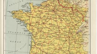 This map of France is from American Armies and Battlefields in Europe.