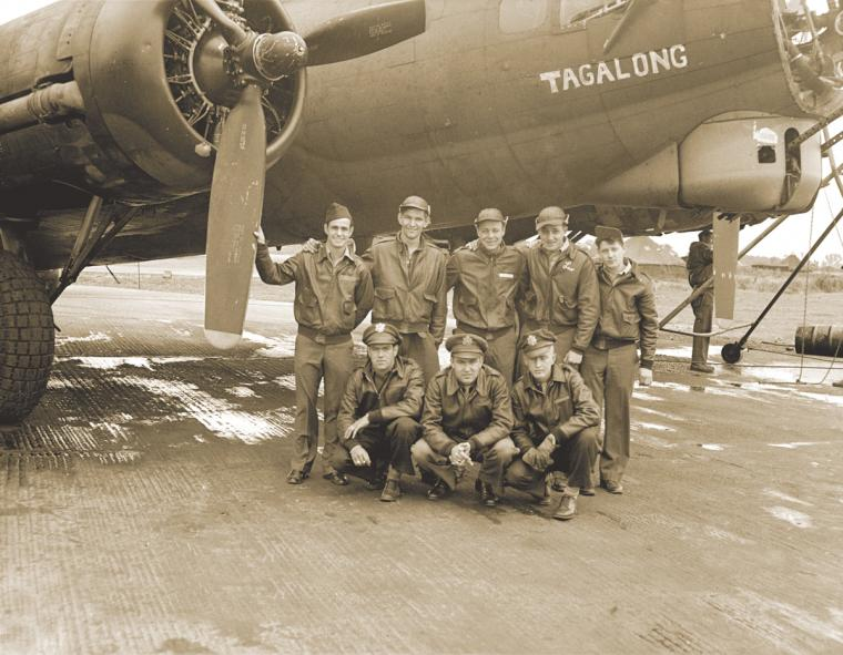 A B-17G aircrew of the 379th Bombardment Group (H), Eighth Air Force.