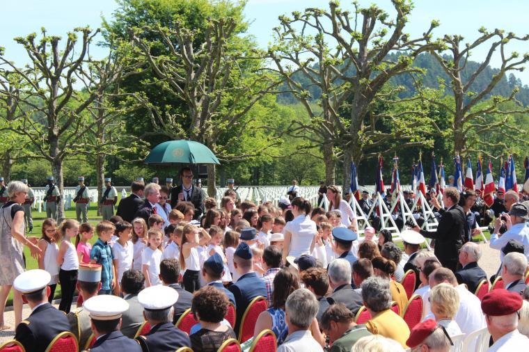 Students participated in front of the crowd during the ceremony.