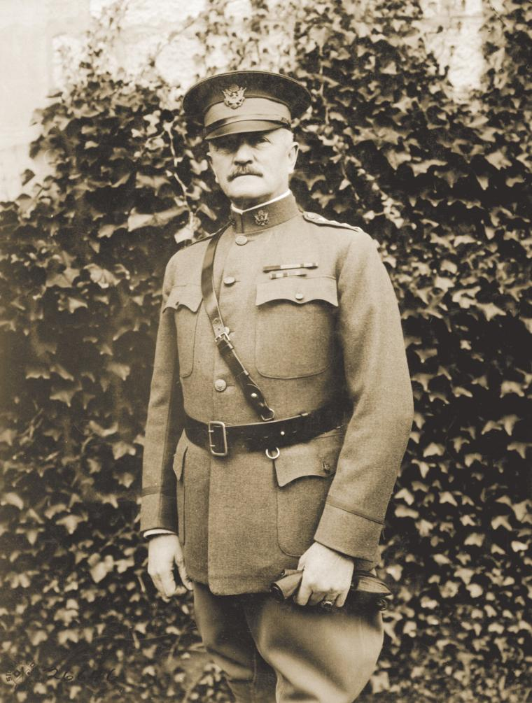 Gen. John J. Pershing, commander of the American Expeditionary Forces at Chaumont, October 19, 1918.