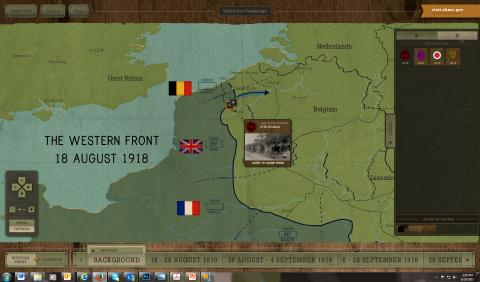 Map showing location of Ypres-Lys Offensive events